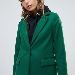 Green Oversized Tailored Coat